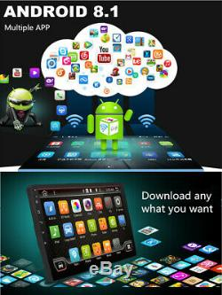 10.1In 1DIN Android 8.1 Quad-core WIFI BT Car Stereo Radio Player GPS Navigation