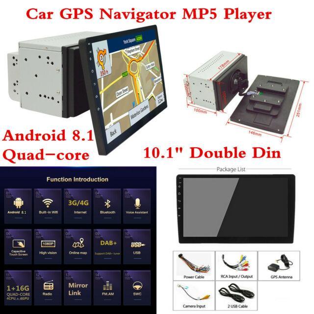 10.1 2 Din Head Unit Car Bluetooth Radio Stereo Mp5 Player Gps Sat Navigator