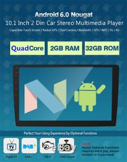 10.1 Touch Android 6.0 Double Din Car GPS Stereo Radio Player 4G WIFI DAB OBD