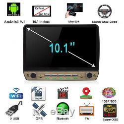 10.1in Android 9.1 Single DIN Car Radio Stereo GPS Head Unit SAT NAV WiFi 1G 16G