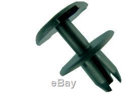 10x BUMPER RIVET FASTENER TRIM CLIPS FOR VAUXHALL ZAFIRA B MK2 BLACK PLASTIC