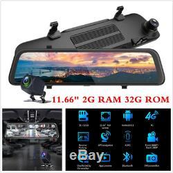 12 4G Android 1080P ADAS Car Camera DVR Rearview Mirror Dash Cam GPS Navi WiFi
