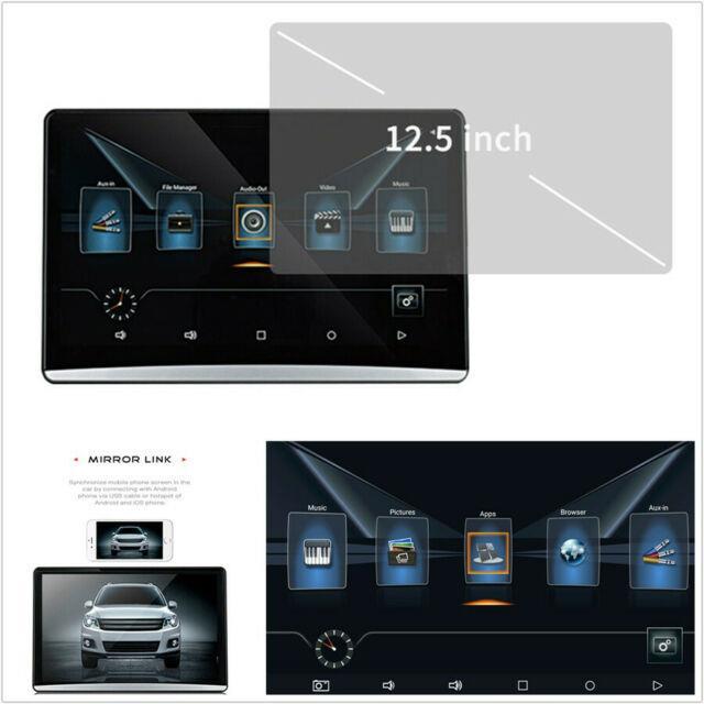 12.5hd 1080p 2gb+8gb Android 6.0 Car Headrest Rear Seat Monitor Wifi 3g/4g Hdmi