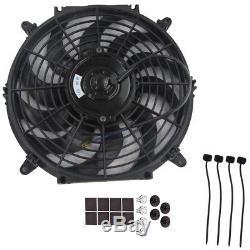 12 80W Car Electric Radiator Intercooler 12V Slimline Cooling Fan Push Pull Pro