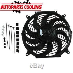 12 80W Car Electric Radiator Intercooler 12V Slimline Cooling Fan Push Pull UK
