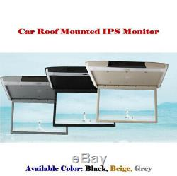 15.6'' HD 1080P IPS screen Flip Down Car Auto Roof Mounted Monitor MP5 TV HDMI