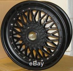 15 DR RS Alloy Wheels Tyres 195/50r15 e21 e30 Golf mk1 mk2 mk3 Seat Skoda 4X100
