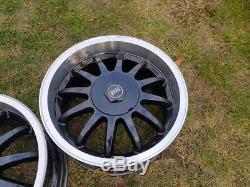 15 ET25 DISHED alloys 4x100 VW polo golf GTI lupo arosa ASTRA MX5 bmw e30 e21