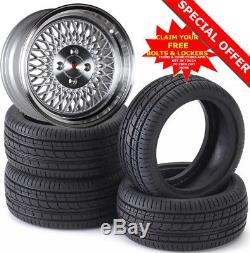 15 ST1 S Alloy Wheels Tyres 195/50r15 e21 e30 Golf mk1 mk2 mk3 Seat Skoda 4X100