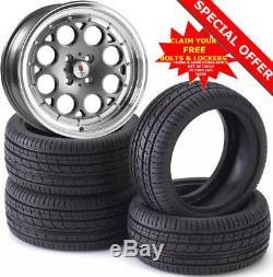 15 ST6 Alloy Wheels Tyres 195/50r15 e21 e30 Golf mk1 mk2 mk3 Seat Skoda 4X100