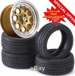 15 ST6 G Alloy Wheels Tyres 195/50r15 e21 e30 Golf mk1 mk2 mk3 Seat Skoda 4X100