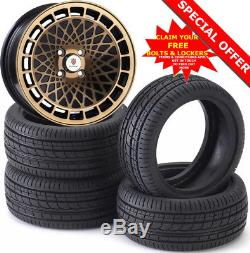 15 ST7 B Alloy Wheels Tyres 195/50r15 e21 e30 Golf mk1 mk2 mk3 Seat Skoda 4X100