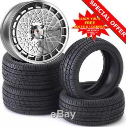 15 ST7 SP Alloy Wheels Tyres 195/50r15 e21 e30 Golf mk1 mk2 3 Seat Skoda 4X100