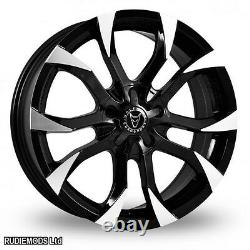 15 Wolfrace Assassin Black Polished Alloy Wheels x4 Astra G Mk4 98-04 4 stud