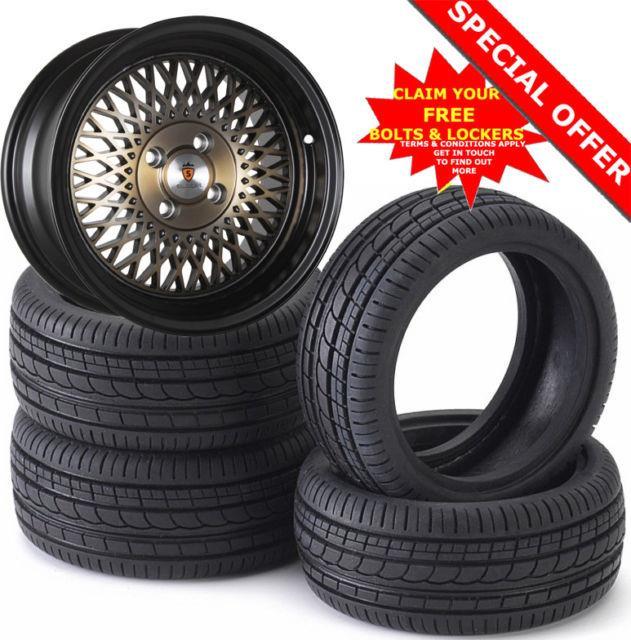 16 St1 Alloy Wheels Tyres 195/45r16 E21 E30 Golf Mk1 Mk2 Mk3 Seat Skoda 4x100