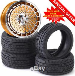 16 ST7 G Alloy Wheels Tyres 195/45r16 e21 e30 Golf mk1 mk2 mk3 Seat Skoda 4X100
