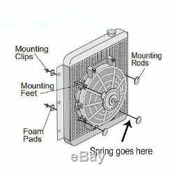 16 Universal Slim 12V 80w Electric Radiator Cooling Fan & Mounting Kit