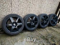 17 BLACK vauxhall alloys 5x110 zafira vectra combo astra meriva corsa 5stud SRI