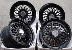 17 Cruize Classic Alloy Wheels Matt Black Deep Dish 4x100 17 Inch Alloys