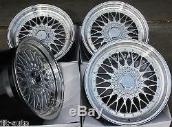 17 Cruize Classic Alloy Wheels Silver Polished Deep Dish 4x100 17 Inch Alloys
