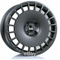 17 inch BOLA B12 4X100 ET30-45 8J GUNMETAL alloy wheels Alpina 3 SERIES E30 BMW