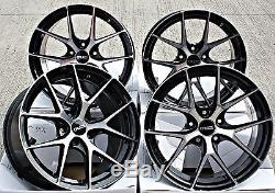 18 Alloy Wheels Cruize Gto Bp Black Diamond Cut Face 5x110 18 Inch Alloys