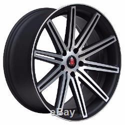 18 Axe Ex15 Black/polish Alloy Wheels Fits Vaux Astra Vectra Saab
