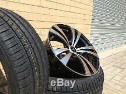 18 Brand New Vauxhall Vxr Style Alloy Wheels Tyres Astra Corsa Vectra Meriva