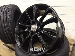 18 Vxr Style Black Alloy Wheels And Tyres To Fit Vauxhall Zafira 1999