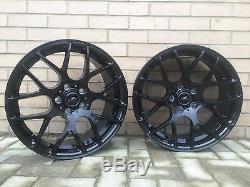 18 snowflake black alloy wheels Vauxhall Astra Vectra Zafira Alfa 159 Saab vxr