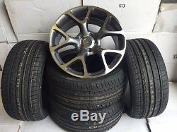 18snowflake g alloy wheels Vauxhall Astra/Vectra/Zafira-Alfa 159/Saab-vxr tyres