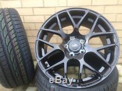 19 DTM Black Wheels+Tyres Vauxhall Astra MK V 2004-2010 Hatchback 2.0 VXR
