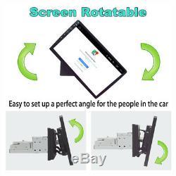 1DIN Rotatable Screen 1+16GB Car Stereo Radio Navi GPS WiFi 3G 4G Mirror Link BT
