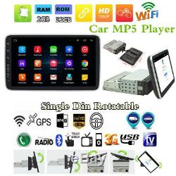 1Din Android 8.1 9 HD Quad-core 2G+32G Car BT Stereo Radio MP5 Player GPS Navs