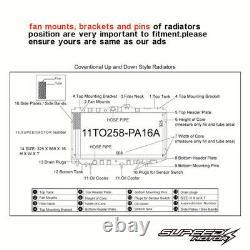 42MM H/D RADIATOR fit VAUXHALL ASTRA G MK4 Z20LET ZAFIRA GSI SRI GSI SRI 98-06