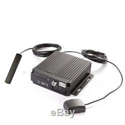 4CH 720P AHD Car DVR SD Card 4G Wireless GPS Antenna Realtime Video Recorder
