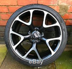 4 Genuine Vauxhall Vxr, Astra Gtc, Corsa Diamond Cut Alloy Wheel With Tyres