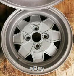 4x Classic Triumph Dolomite Sprint Herald Spitfire TR7 GT6 13 5.5j Alloy wheels