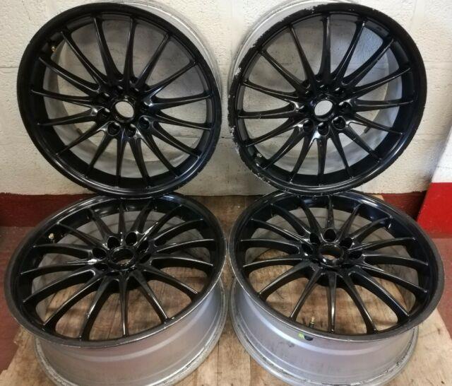 4x Ford Peugeot Citroen Black Team Dynamics Jet Alloy Wheels 17 7j 4x108 Et31