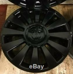4x VW AUDI A8 S8 S-LINE GTI 12 SPOKE 17x7.5J 5x100 5x112 BLACK ALLOY WHEELS