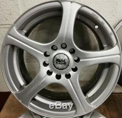 4x VW TOYOTA SUBARU MAZDA BK RACING 5 SPOKE 15x6.5J 5x100 5x114.3 ALLOY WHEELS