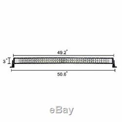 50 288W Driving Light Curved LED Bar Flood Spot Combo Beam SUV Offroad Philips