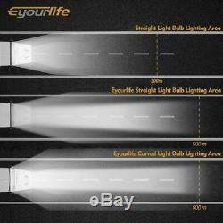 52''inch Led Curved Light Bar 300W Driving Light Spot Flood Combo Beam Lamp Cree