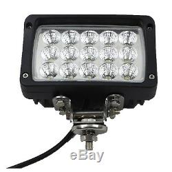 6X 45W LED Work Lights Floodlight Waterproof 12V 24V Truck Tractor Van Trailer