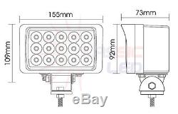 6 X 45W Square LED Flood Work Light john deere valtra fendt Tractor 12V 24V/ 48w