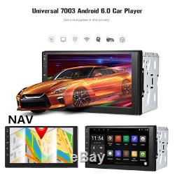 7'' 2Din Car Radio Player Touch Screen Wifi GPS Navigation Bluetooth Android 6.0