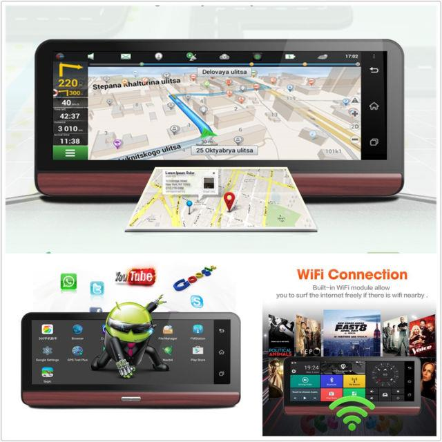 7.84'' 1080p Hd 4g Autos Dvr Gps Navigation Wifi 1080p Bluetooth Video Recorder