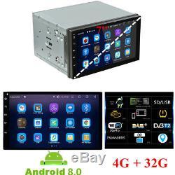 7'' Android 8.0 Octa Core 2DIN Car Radio Stereo GPS Navi 4G RAM+32G ROM No-DVD