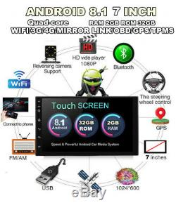 7 Android 8.1 Car Radio GPS Navigation Audio Stereo Multimedia MP5 Player Kit
