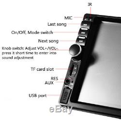 7 Double Car Radio Stereo MP5 MP3 Player 2 Din Bluetooth FM AUX USB Head Unit